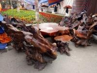 bàn ghế gỗ lũa 7 món