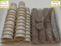 50 viên nén Phước Lộc và 50 rọ nhựa thủy canh 4.5x5.5cm