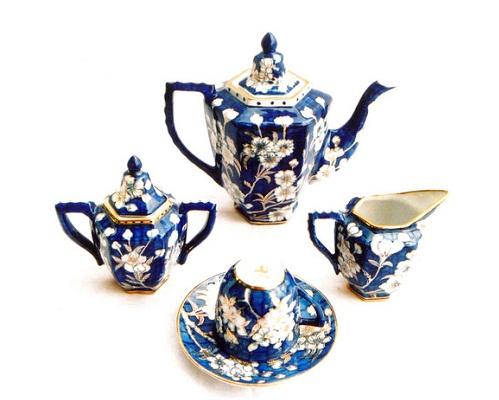 Bộ trà lục lăng bằng đào