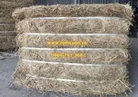 Rơm khô đóng kiện dùng trong chăn nuôi bò sữa, bò thịt, làm nấm, tủ góc, chất đốt...