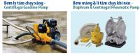 AtlasCopco - Bơm ly tâm chạy xăng, Bơm màng & ly tâm chạy khí nén
