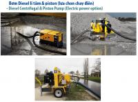 AtlasCopco - Bơm Diesel li tâm & piston (lựa chọn chạy điện)