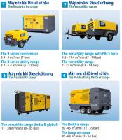 AtlasCopco_Máy nén khí Diesel di động cỡ nhỏ, cỡ trung, cỡ lớn