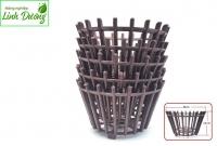 Chậu nhựa giả gỗ trồng lan fi 30