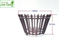 Chậu nhựa giả gỗ trồng lan fi 23
