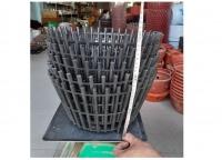 5 Chậu nhựa giả gỗ trồng lan fi 35