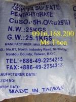 Nguyên liệu Đồng Sunfat (phèn xanh, CuSO4)