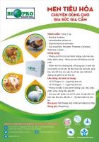 Men vi sinh tiêu hóa Biopro Khánh Hòa dùng cho heo, bò, gà, thỏ giúp ngăn bệnh tiêu chảy, Ecoli