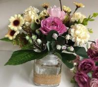 Hoa lọ để bàn làm việc, siêu xinh, (handmade)