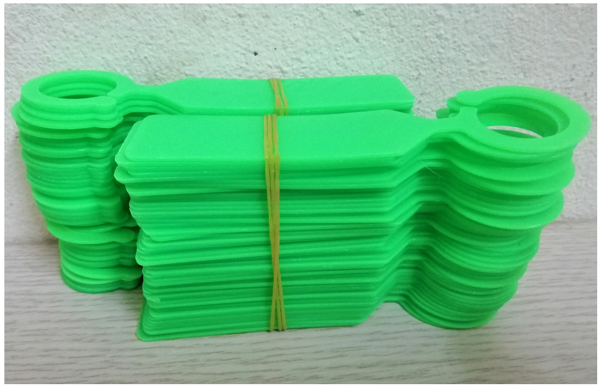 Túi 100 Thẻ Ghi Tên Cho Lan (Có Móc Treo) - Màu Xanh Lá Cây