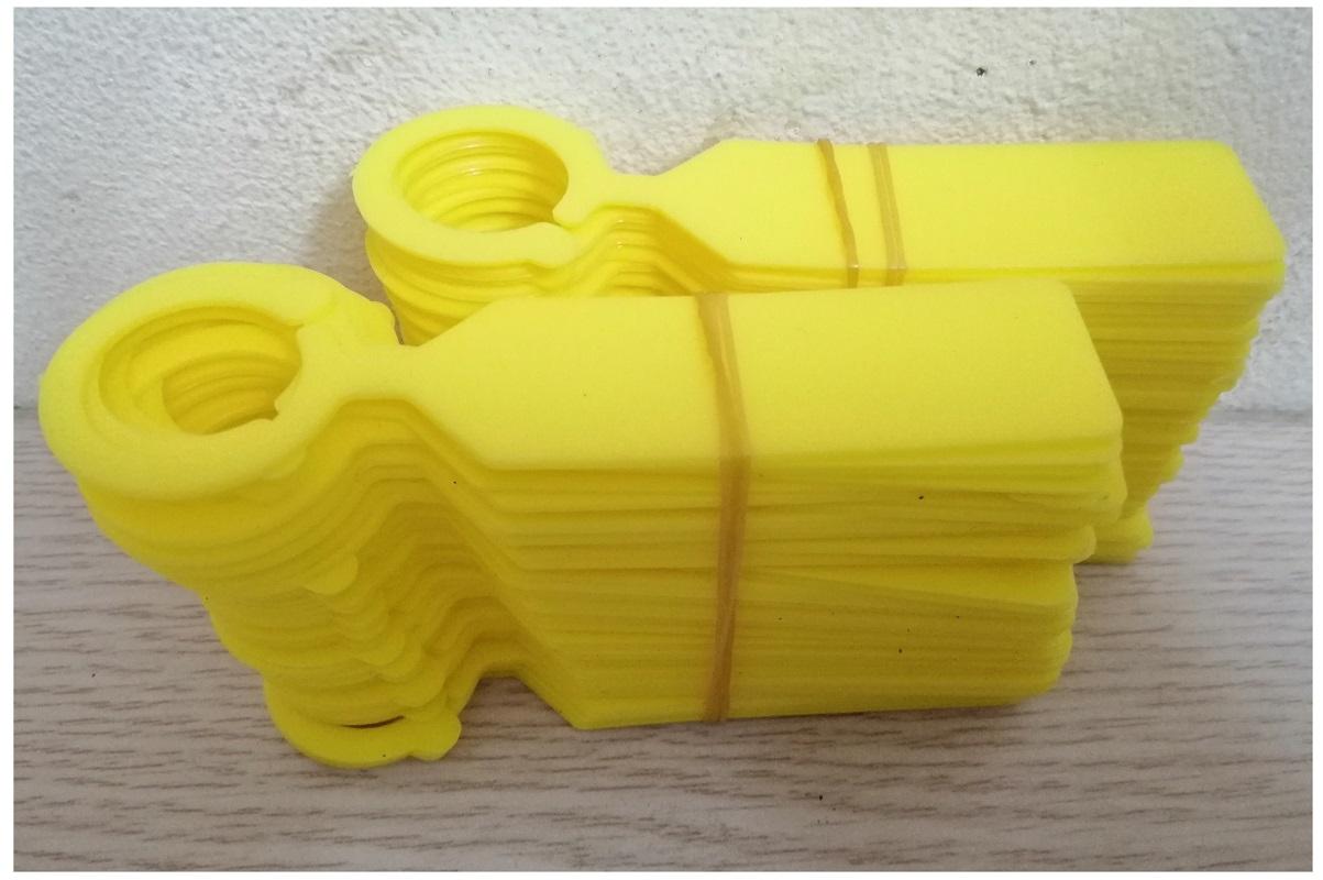 Túi 100 Thẻ Ghi Tên Cho Lan (Có Móc Treo) - Màu Vàng