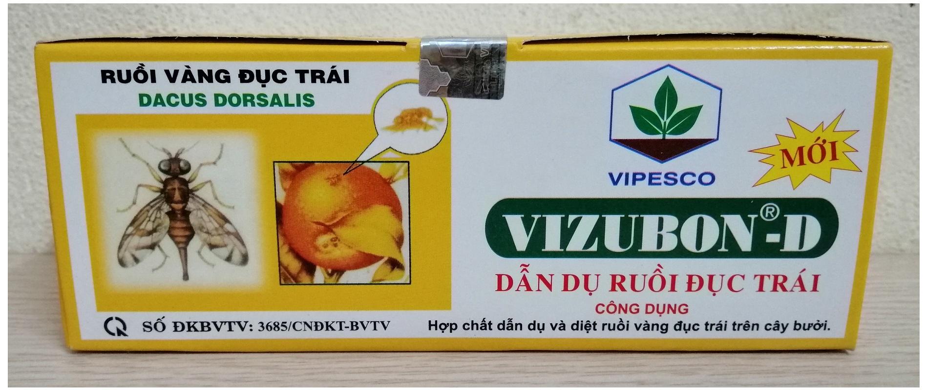 THUỐC DẪN DỤ DIỆT RUỒI ĐỤC TRÁI VIZUBON-D (5 hộp nhỏ)