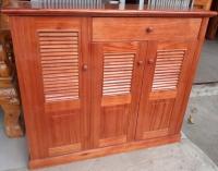 Tủ giày 3 buồng gỗ Xoan Ta