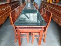 Bộ Bàn Ăn gỗ Xoan Ta (1 bàn và 6 ghế)