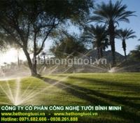 Hệ thống tưới sân vườn, béc phun tưới cỏ, béc phun tưới cây, béc phun xoay, vòi phun xoay 360 độ