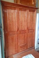 Tủ gỗ xoan ta 3 buồng, rộng 1.5m x cao 2.1m