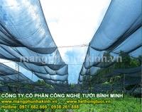 lưới che lan, lưới che nắng vườn lan hà nội, lưới che giảm nắng, lưới cắt nắng