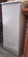 Tủ nhựa 3D, 2 buồng, kích thước 83x185cm (rộng x cao)