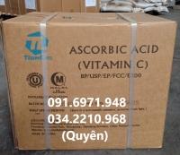 Bán Vitamin C, ascorbic acid 99% nguyên liệu tăng sức kháng bệnh cho tôm cá giá sỉ