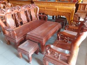 Bộ bàn ghế gỗ Hương Đá (tay 10cm) ấm cúng và đẳng cấp!