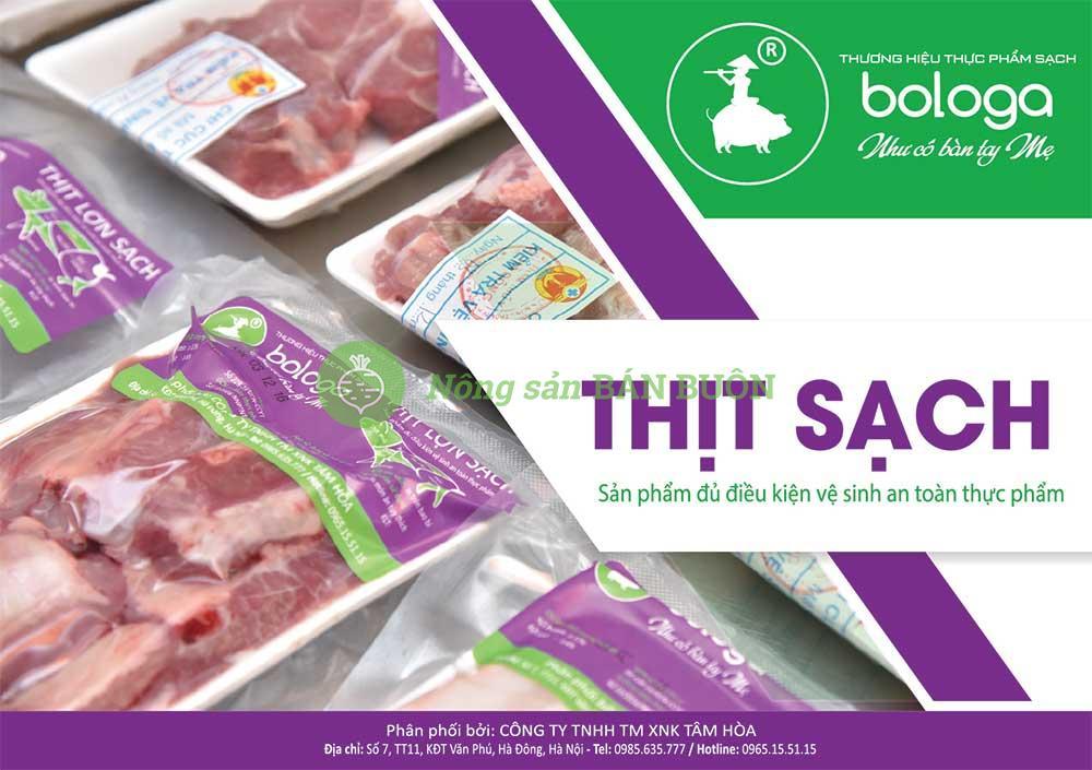 Thịt sạch Bologa
