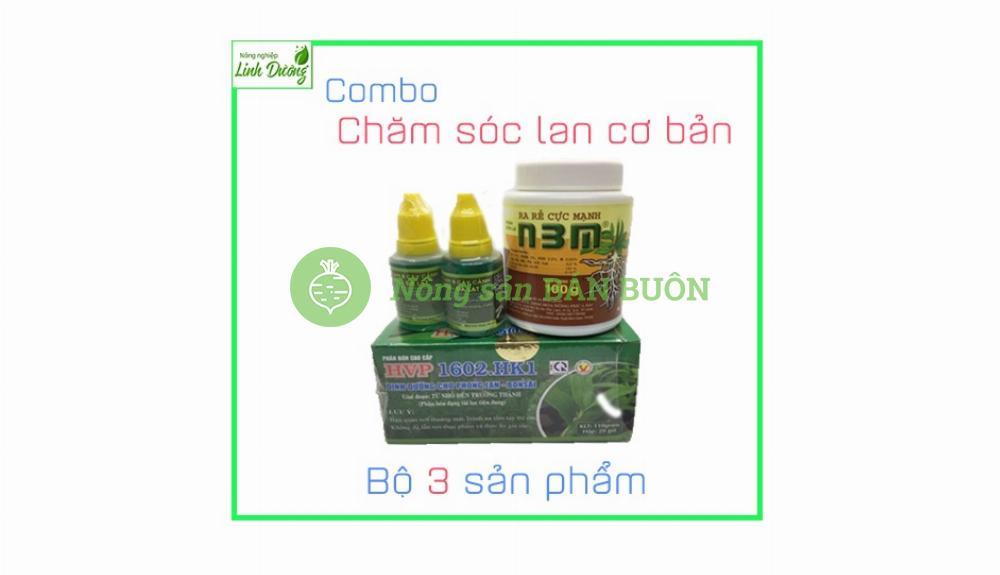 Combo chế phẩm Hùng Nguyễn, kích rễ N3M và phân bón gốc cho lan
