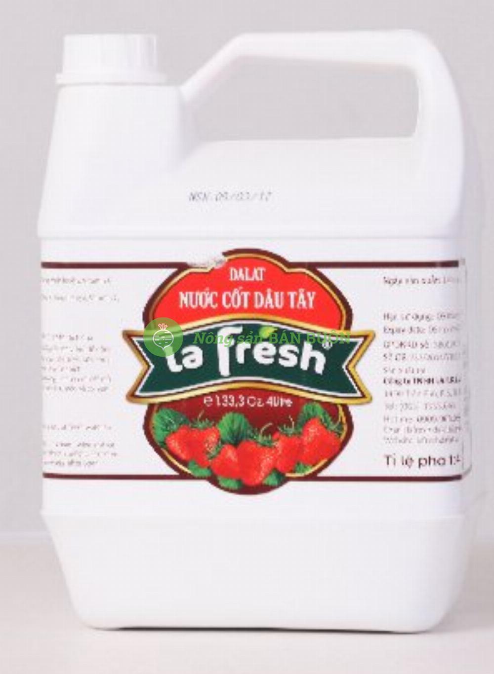Nước cốt dâu tây đậm đặc 4 lít