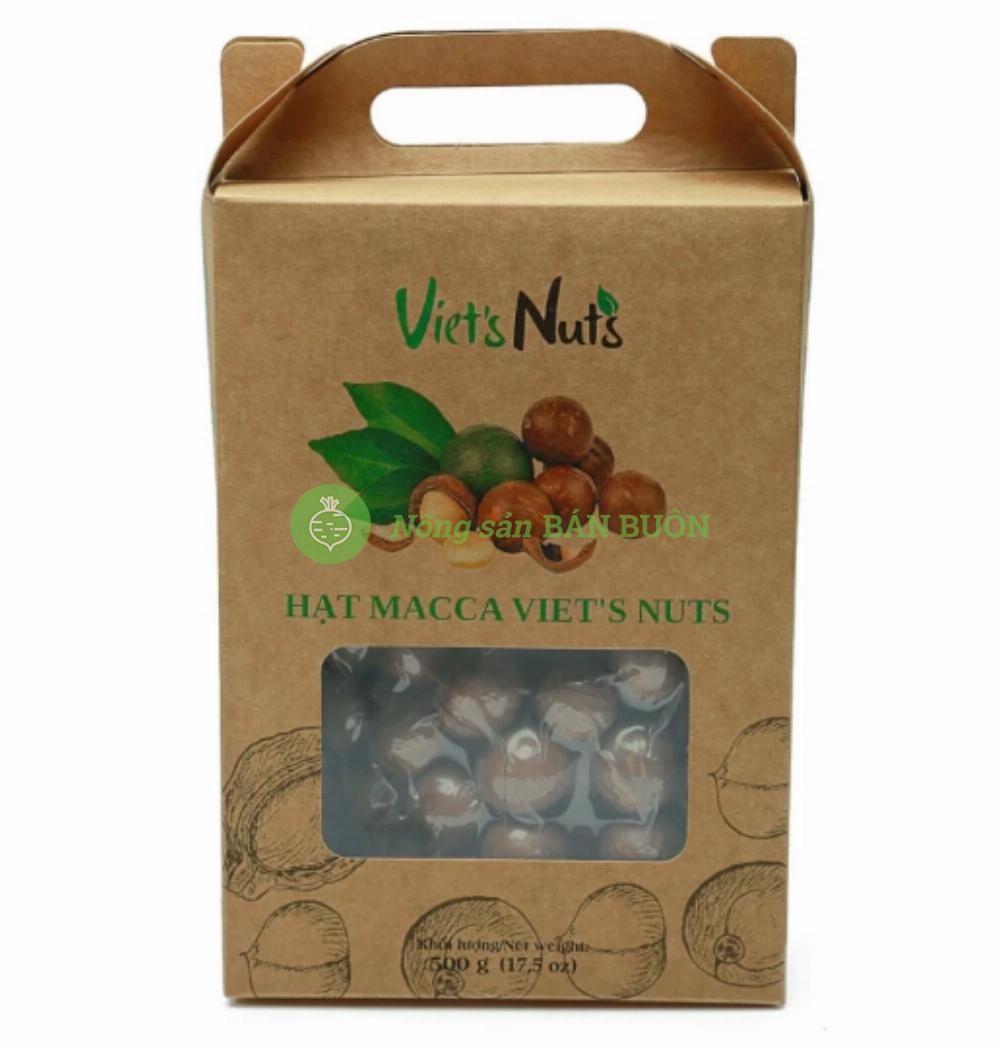 Bộ quà Tết Macca Lâm Đồng Viet's Nuts - 500g