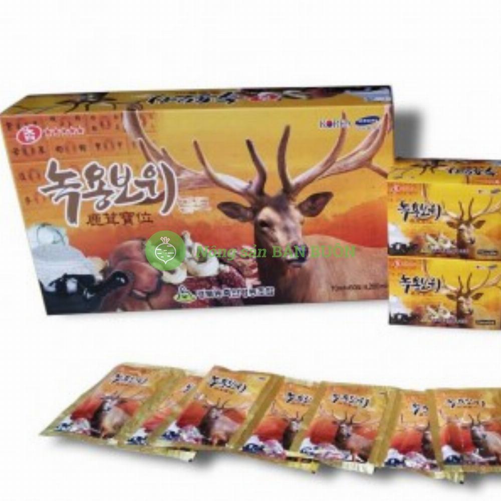 TINH CHẤT HỒNG SÂM NHUNG HƯƠU THUỐC BẮC – Hộp 60 gói