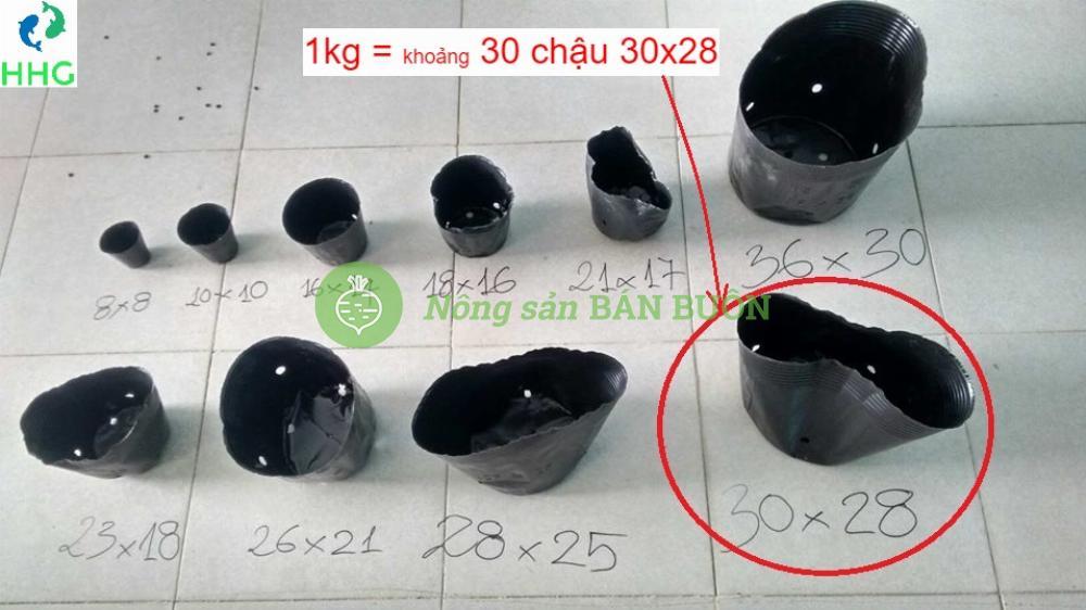 Chậu nhựa mềm (Bịch, Túi bầu) ươm cây 30x28, 1kg = 30 chậu 30x28