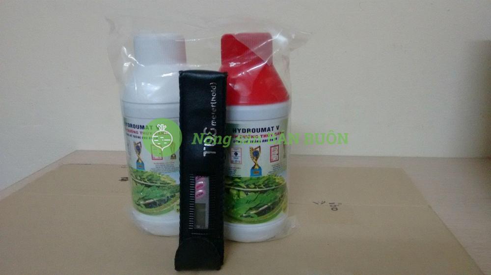 1 bút đo TDS Meter (Hold-3) bảo hành 3 tháng và 1 cặp dung dịch thủy canh cho rau ăn lá Hydro Umat V