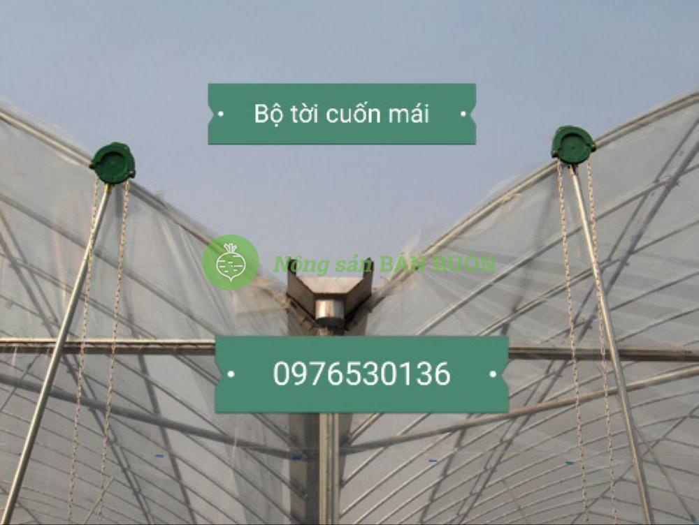 Bán tời cuốn đóng mở nhà lưới nhà kính nông nghiệp công nghệ cao