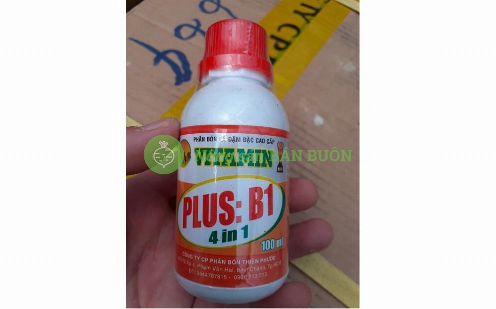 Phân bón lá Vitamin Plus:B1 4 trong 1 - Phân bón lá đậm đặc cao cấp