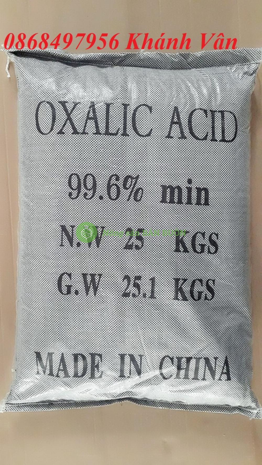 Oxalic acid_ Xử lí nhớt bạt