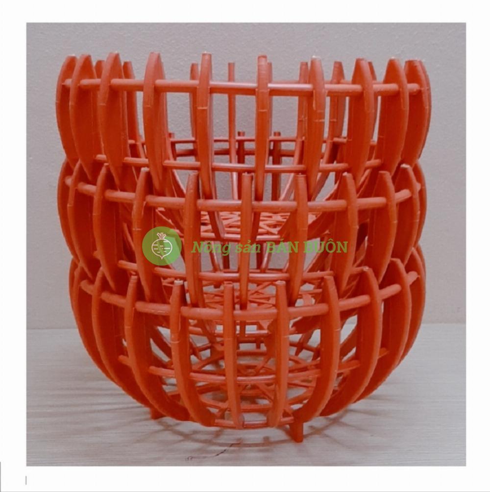 3 Chậu nhựa Giả Bí trồng Lan Fi30 - Màu Cam